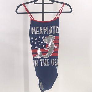 Justice Girl Sz 16 plus Mermaid swim suit